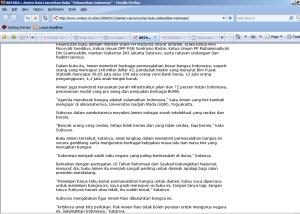 Screenshot Situs Kantor Berita Antara
