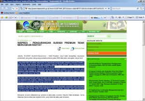 Screenshot Pernyataan Resmi Wapres Yusuf Kalla