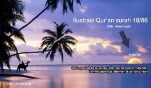 Ilustrasi cerita Dzulkarnain dalam al-Qur\'an