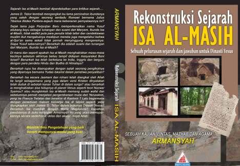 Cover depan dan belakang buku Rekonstruksi Sejarah Isa al-Masih