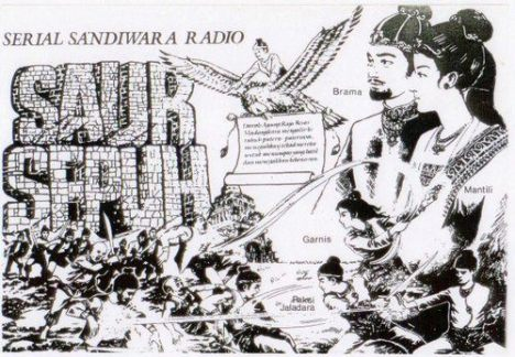 Salah satu contoh poster promo Sandiwara Radio Saur Sepuh diera 80-an