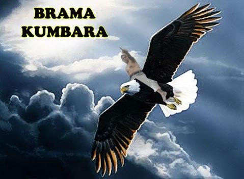 ilustrasi pribadi atas sosok Brama yang sedang menunggang burung