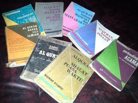Beberapa contoh koleksi Buku Nazwar Syamsu yang saya miliki