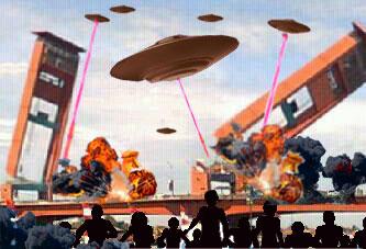 Ilustrasi Invasi UFO